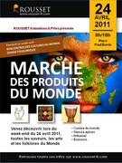 Marché Produits du Monde, Rousset le 24 avril 2011.
